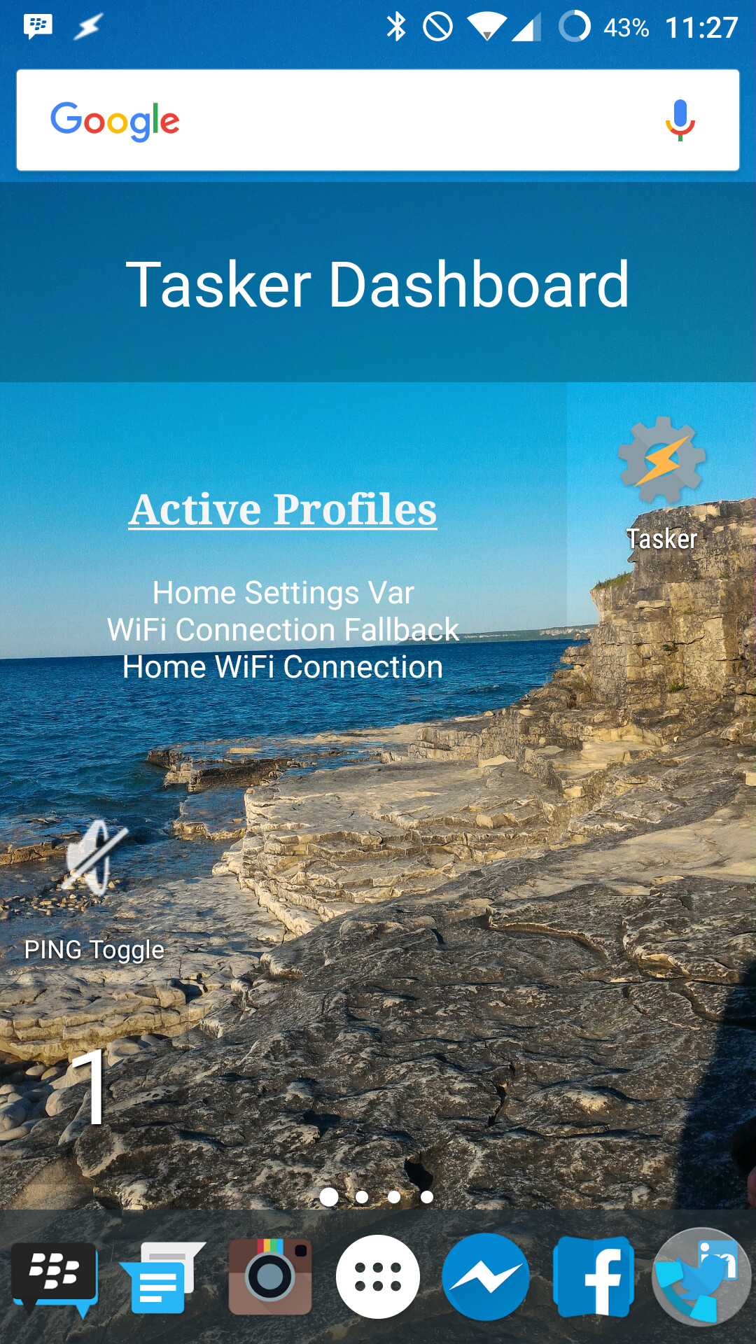 Tasker: displaying Active Profiles one per line in a Minimalistic